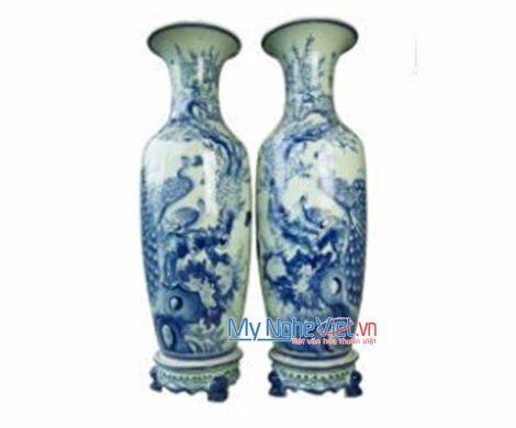 Lộc Bình Men Ngọc Vẽ Kĩ 1m1 MNV-LB32