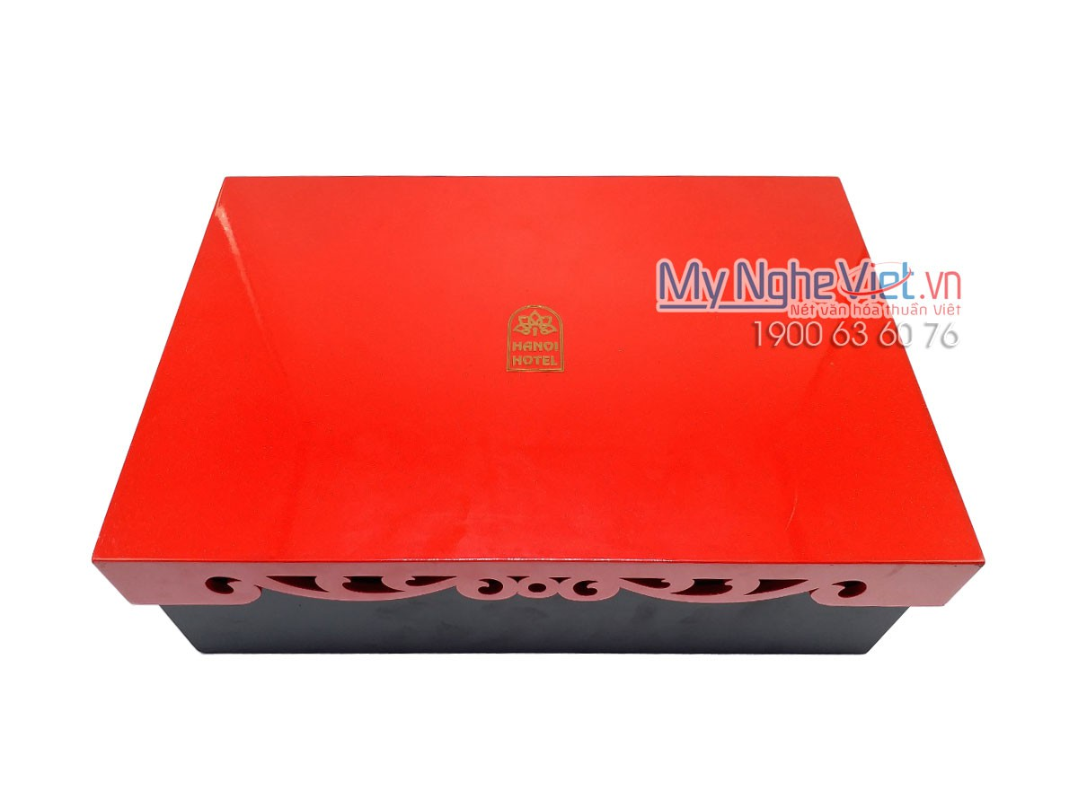 Hộp sơn mài đựng bánh Trung Thu in logo MNV-HSMTT01-1