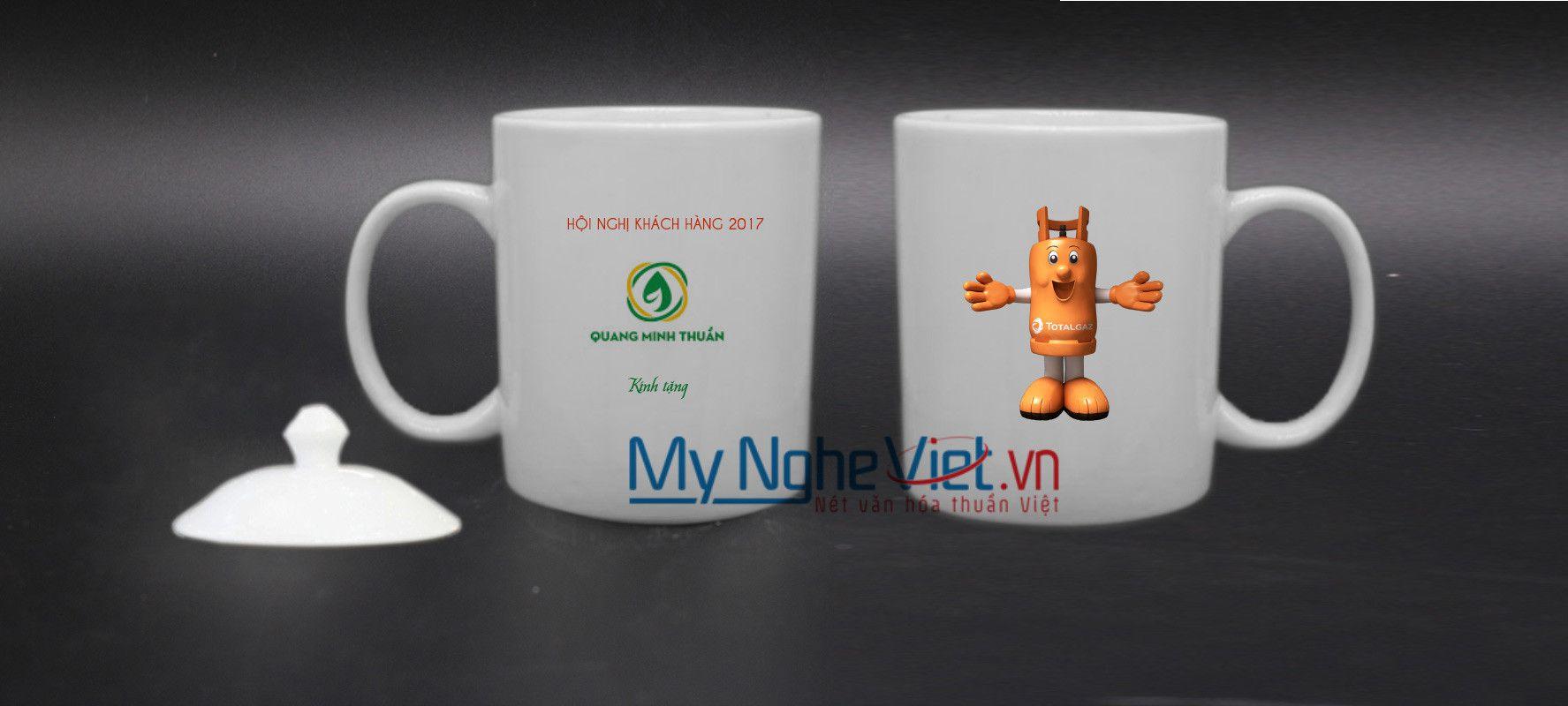 Ly sứ Bát Tràng in logo MNV-HDLS001