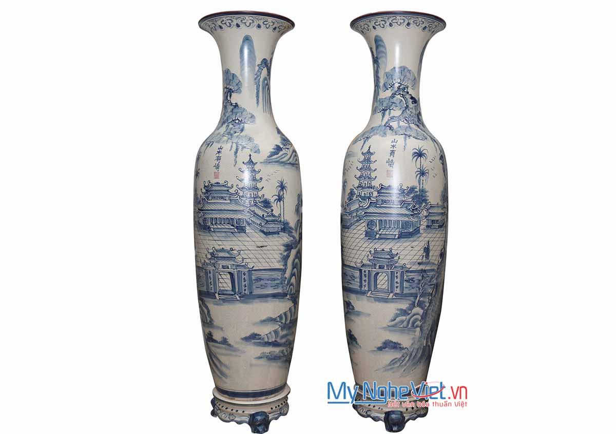 Lộc bình men rạn - Tùng Chùa trơn - 1m4 MNV-LB20