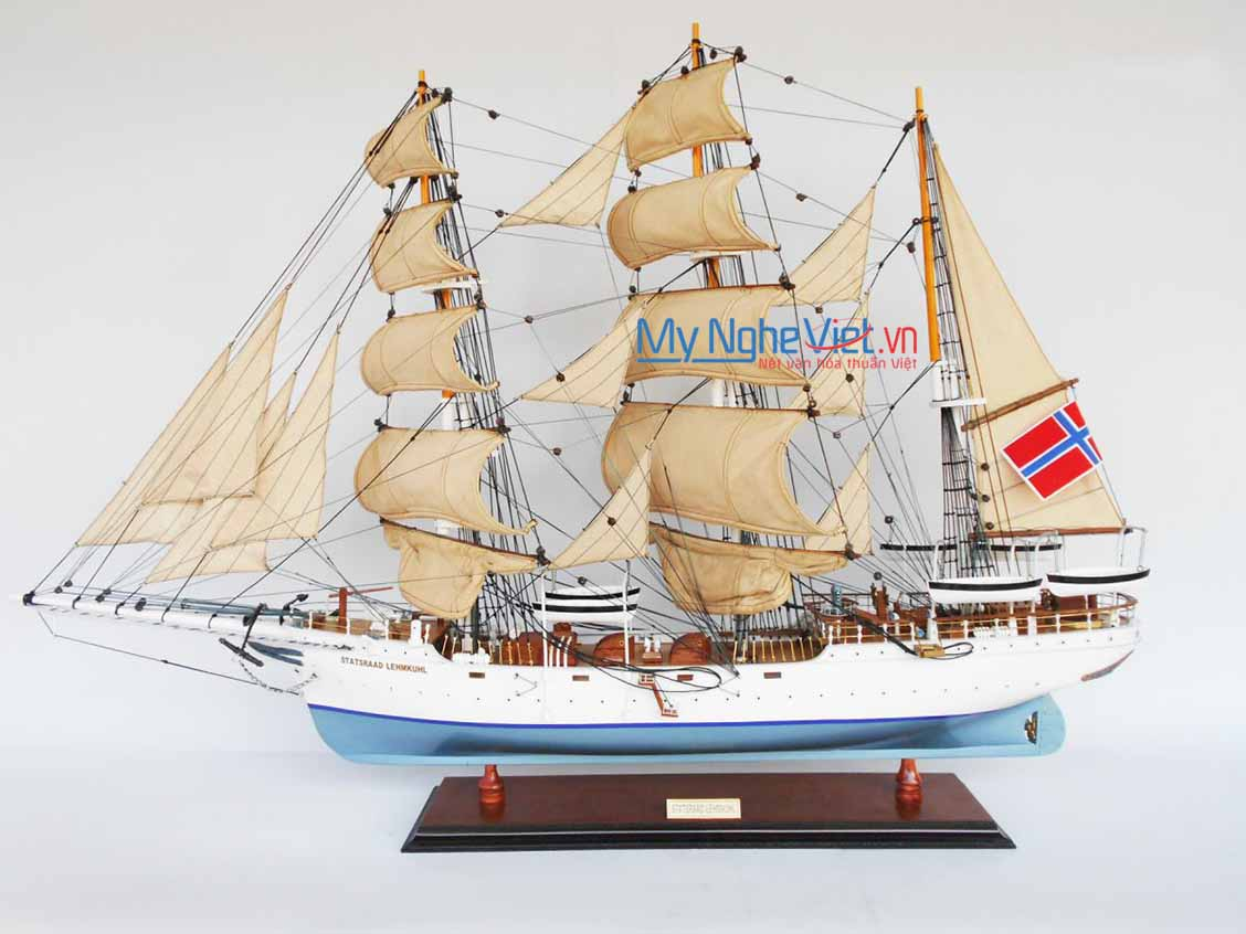 Mô hình tàu thuyền chở hàng STATSRAAD LEHMKUHL 80cm (Curl Sail) - MNV-TSSL80-P