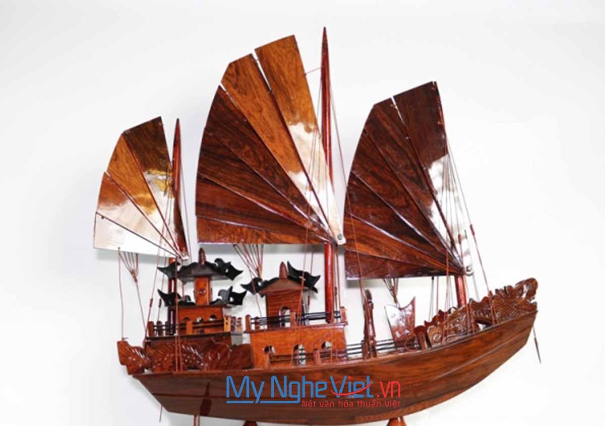 Mô hình tàu thuyền cổ Việt Nam -Thuyền Rồng (thân 60cm) MNV-TB15