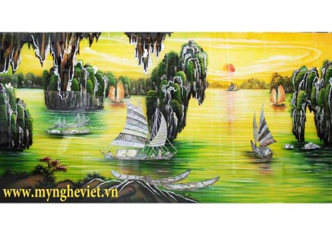 Tranh sơn mài Vịnh Hạ Long MNV-SMA256