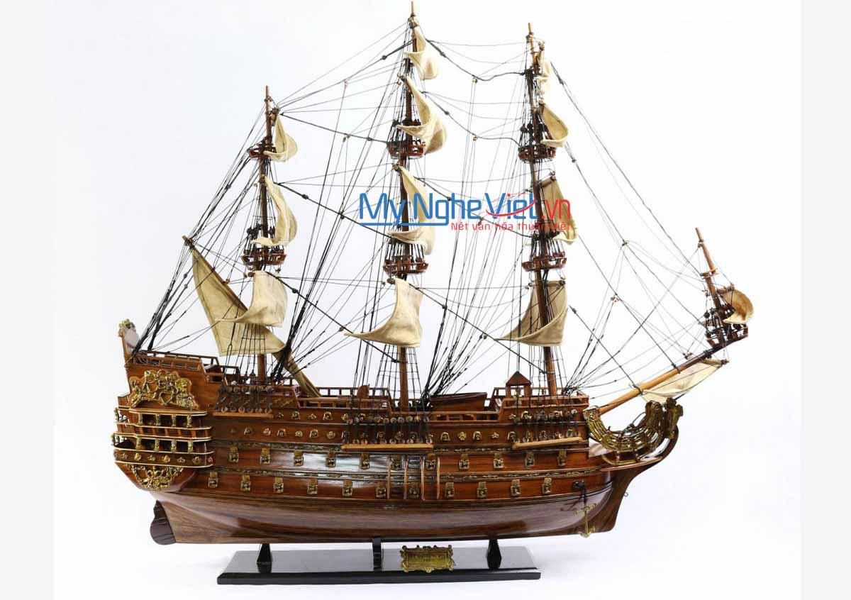 Mô hình tàu thuyền chiến cổ Le Soleil Royal (thân 80cm) MNV-TB28