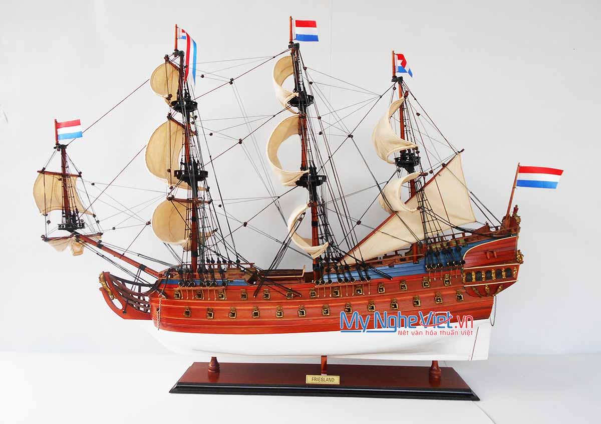 Mô hình tàu thuyền chiến cổ FRIESLAND (Màu Sơn) - MNV-TSFL80P