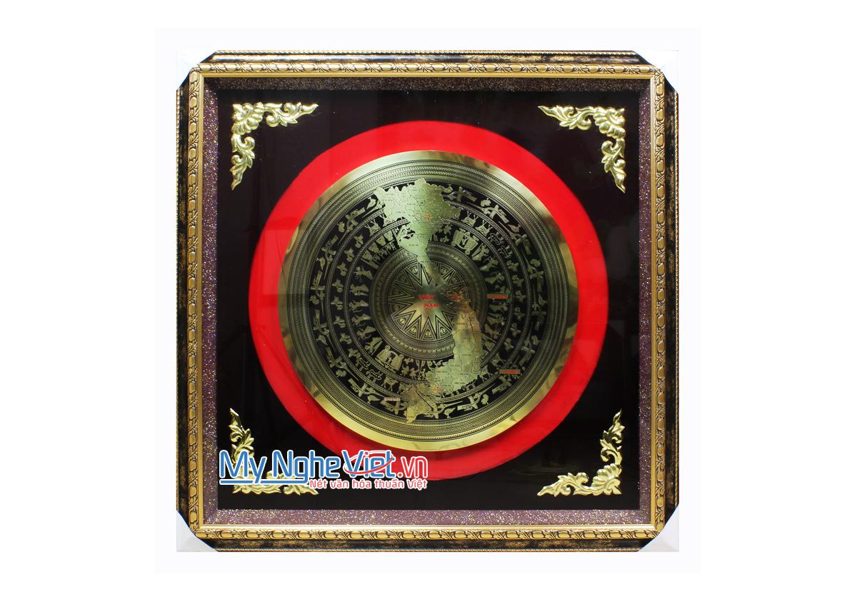 Tranh đồng hoạ tiết Trống Đồng MNV-DD06