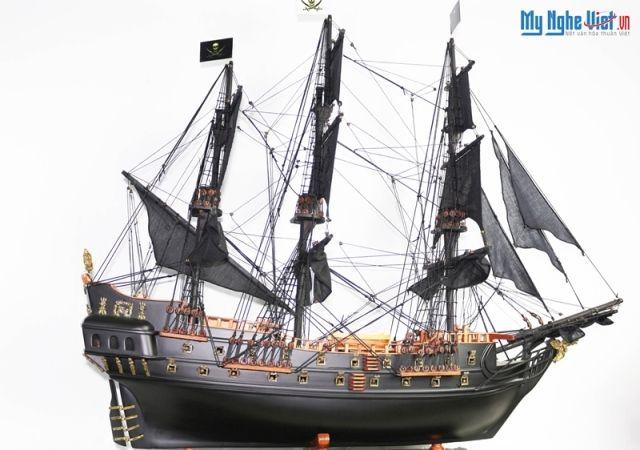 Mô hình tàu thuyền chiến cổ Black Pearl (Thân 80cm) MNV-TB17