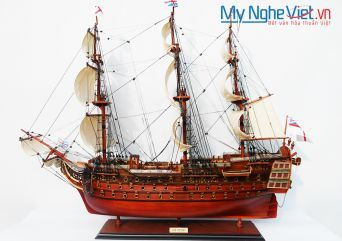 Mô Hình Tàu Thuyền Chiến Cổ HMS VICTORY (Thân 80cm) - MNV-TSHVI80W