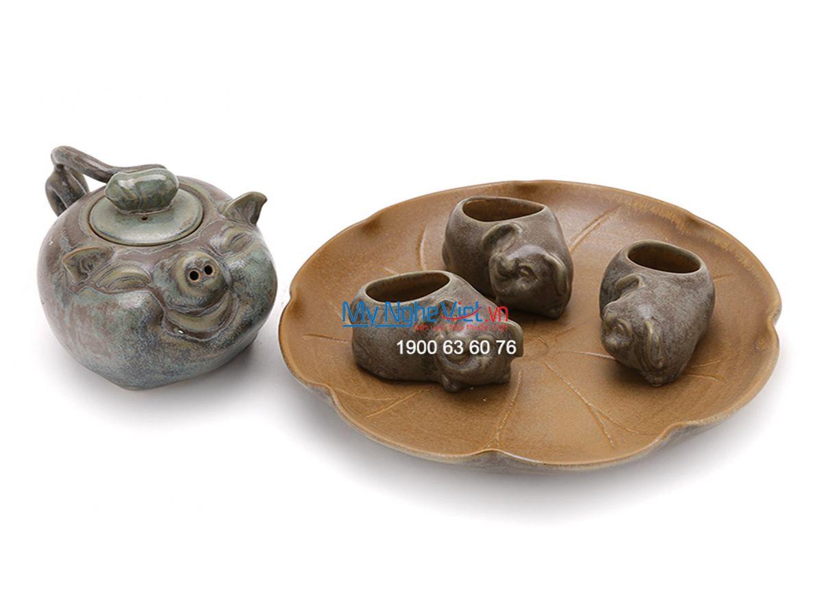 Bộ bình trà lợn con MNV-TS054