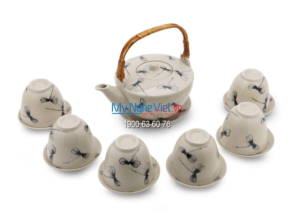 Bộ bình trà vát (Bộ hằng hợp) chuồn kim MNV-BTC03