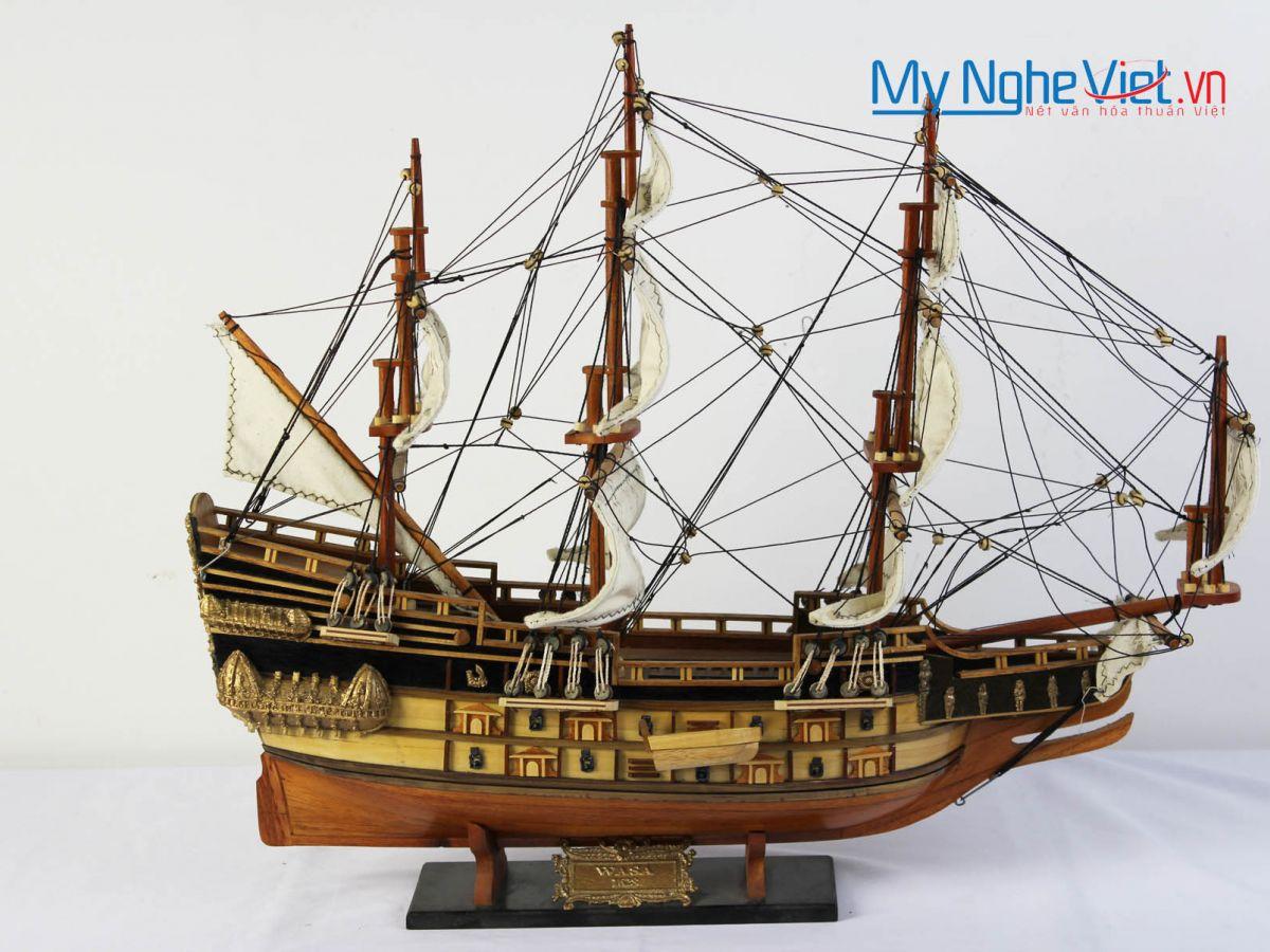 Mô hình tàu thuyền chiến cổ Wasa (thân 48cm) MNV-TB09
