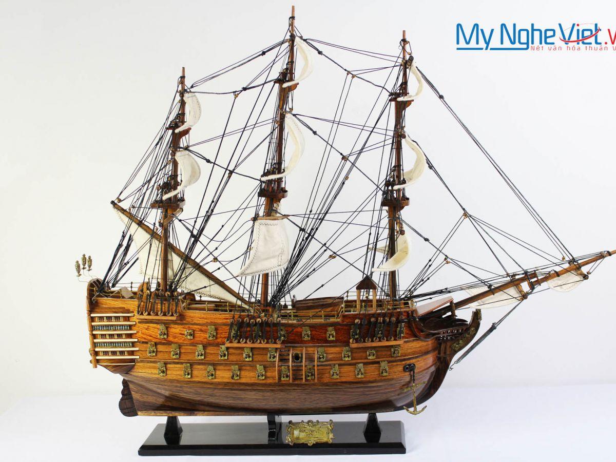 Mô hình tàu thuyền chiến cổ HMS Victory (thân 80) MNV-TB32
