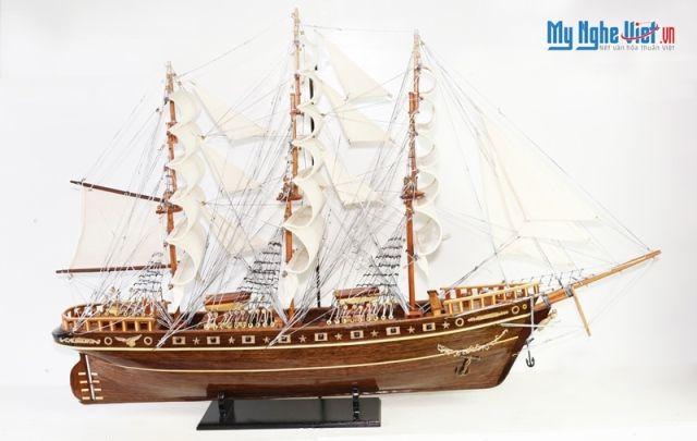 Mô hình tàu thuyền chở hàng Cutty Sark (Thân 80cm) MNV-TB024