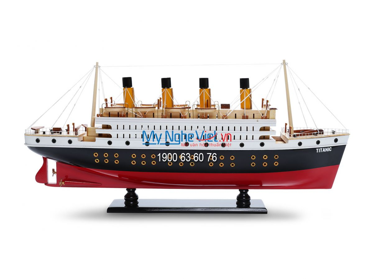 Mô hình du thuyền Titanic sơn (thân 80cm) MNV-TB10A